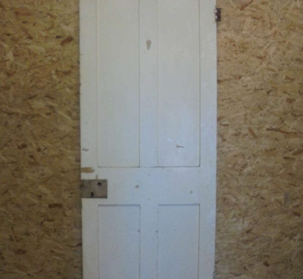 Half no-inlay White 4 Panel Door