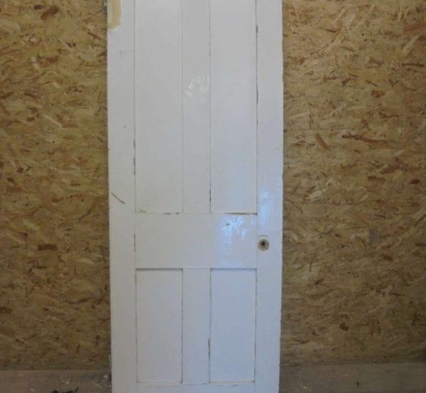 4 Panel White Painted Plain Door