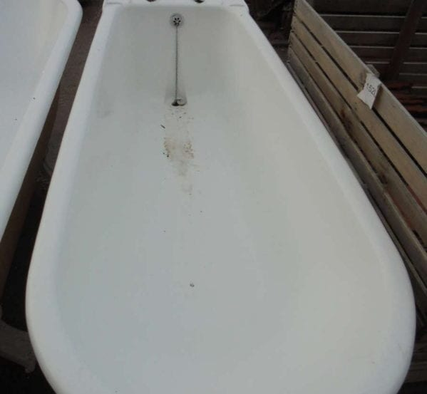 Late Victorian Double Ended Roll Top Bath