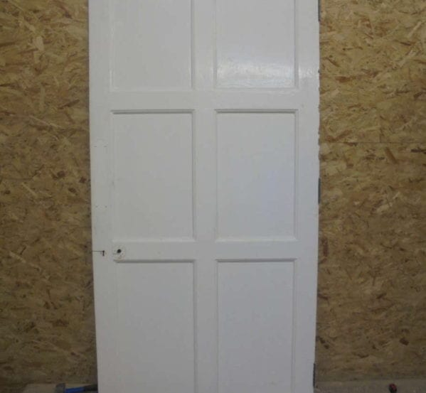 Lovely White Painted 6 Panel Door