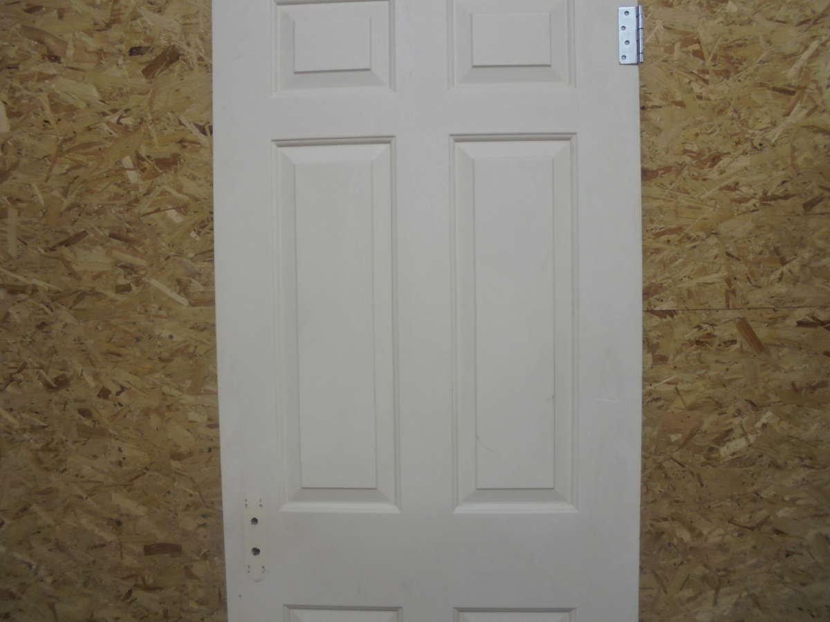 Classic 6 Panel White Painted Door Authentic Reclamation