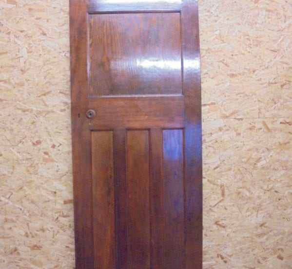 Dark Varnish 1 over 3 Panelled Door