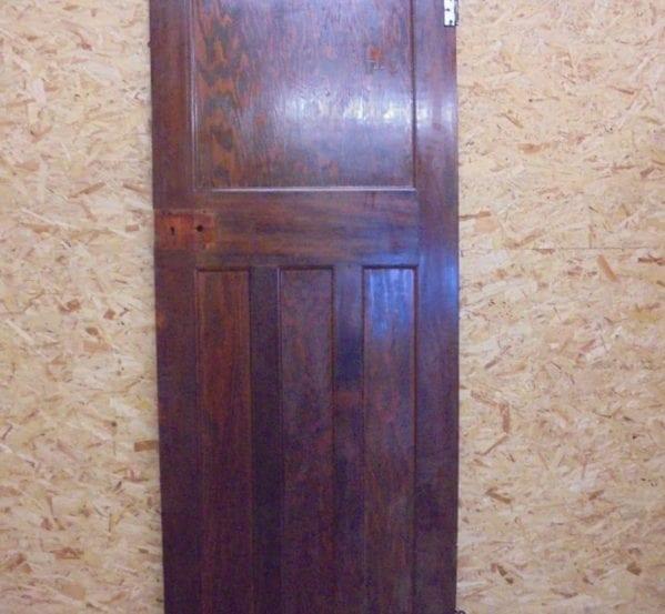 Large dark varnish finish 1 over 3 panel door authentic for 1 over 3 panel door