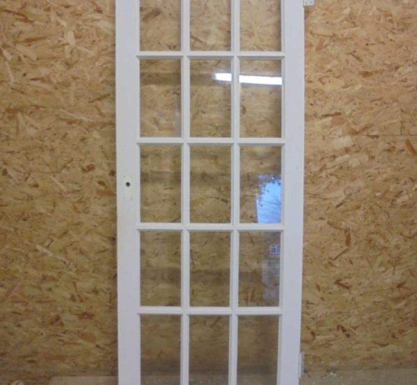 15 Panelled Fully Glazed White Painted Door