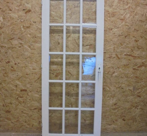 Fully Glazed White Painted 15 Panelled Door