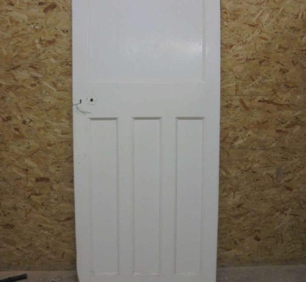 Attractive 1 over 3 Panel White Painted Door