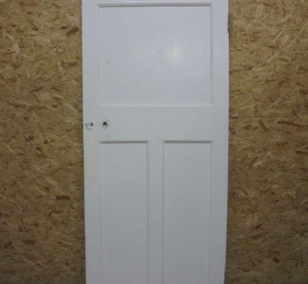 Attractive 1 over 2 Panelled White Painted Door