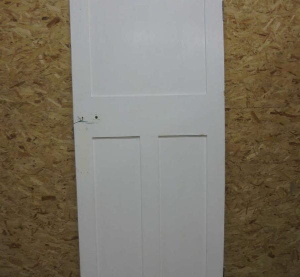 Plain White Painted 1 over 2 Panel Door