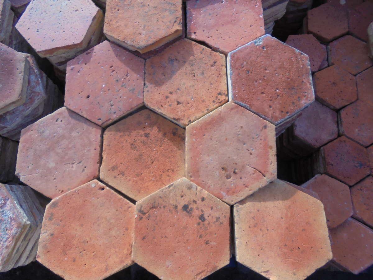 Small Hexagonal French Floor Tiles