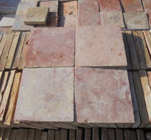 French Terracotta Square Floor Tiles