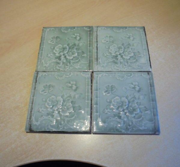 Green Floral Design Tiles