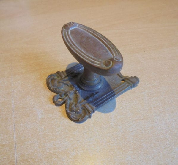 Ornate Frame Back Plate Door Knob