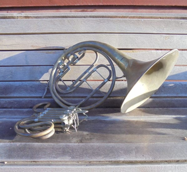 French Horn Bell and Valves