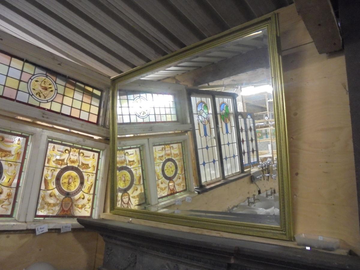 Large Simplistic Detail Frame Mirror