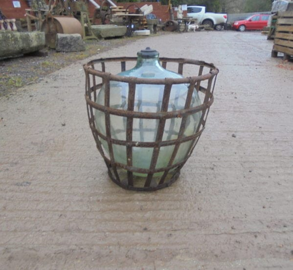 Cast Iron Cage Glass Ball