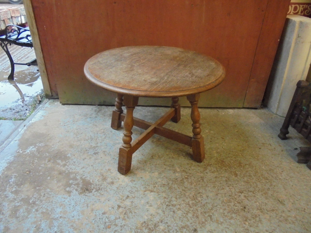 Small Round Wooden Coffee Table