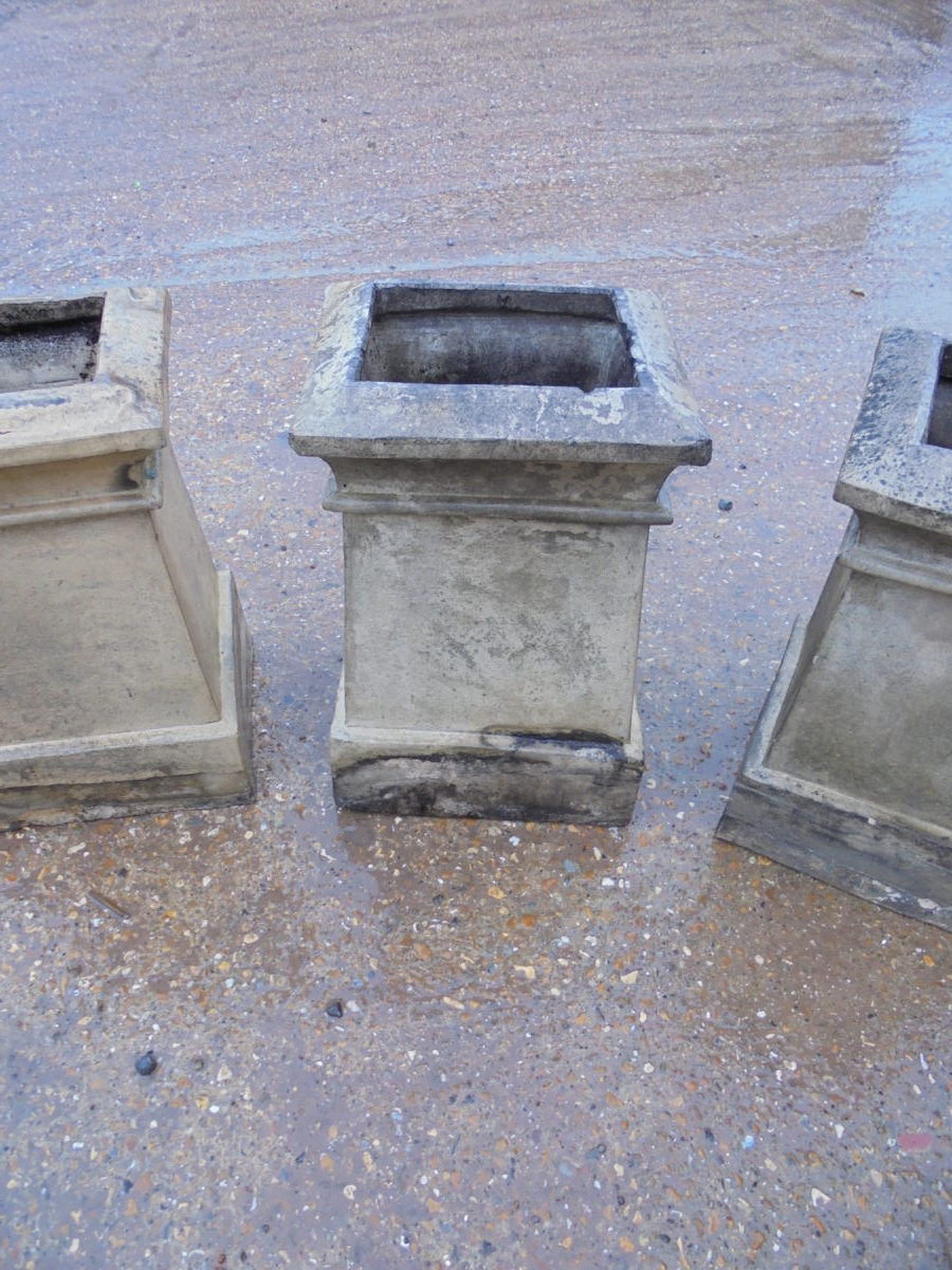 Rectangular Base Buff Chimney Pot