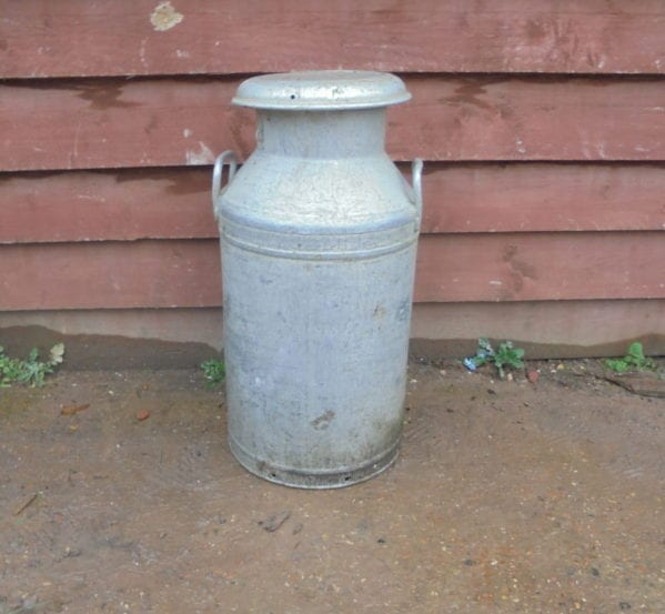 Large Reclaimed Milk Churn with Lid