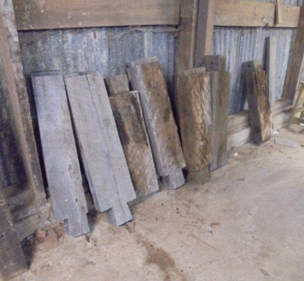Small Batch of Oak Brace Beams