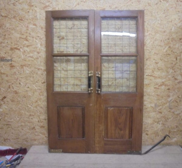 Solid Oak Half Glazed Double Doors