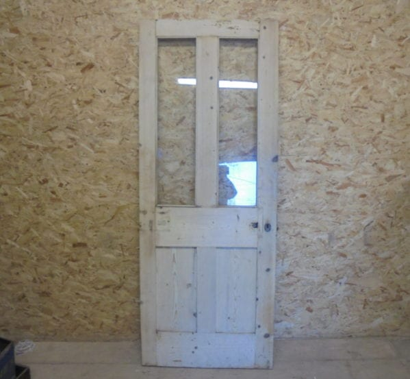 Stripped Half Glazed 4 Panelled Door