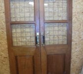 Large Oak Half Glazed Double Doors
