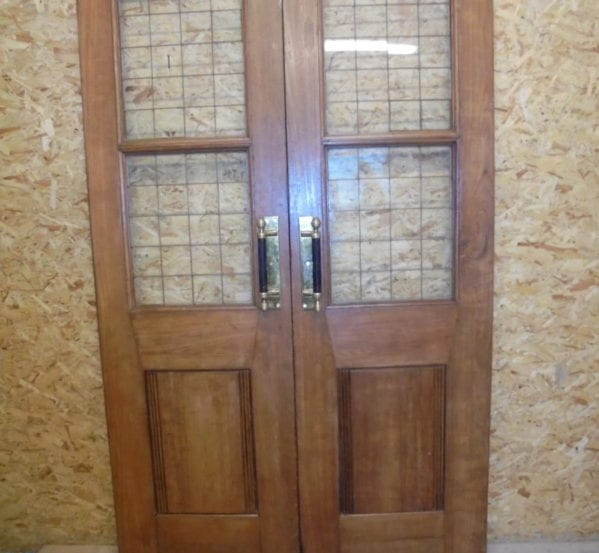 Large Half Glazed Oak Double Doors
