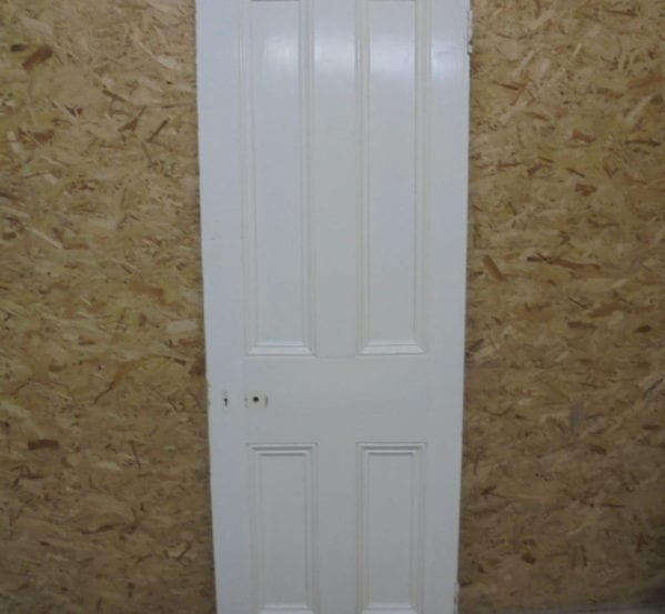 Well Presented White Painted 4 Panel Door