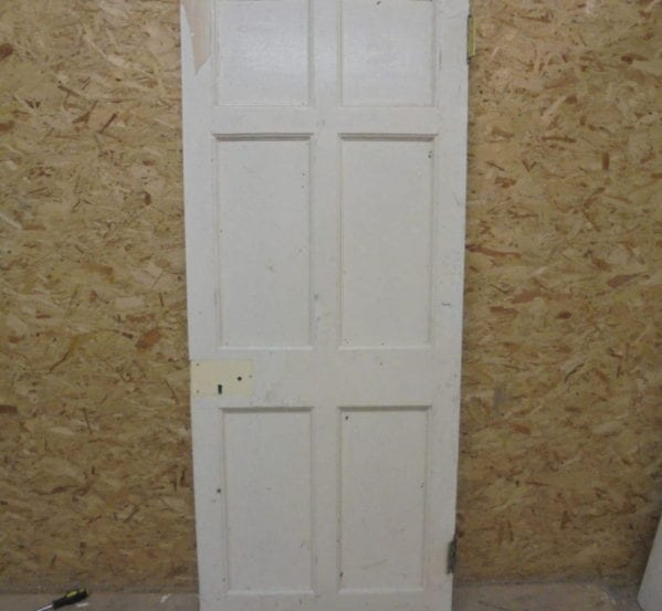 6 Panelled White Painted Door