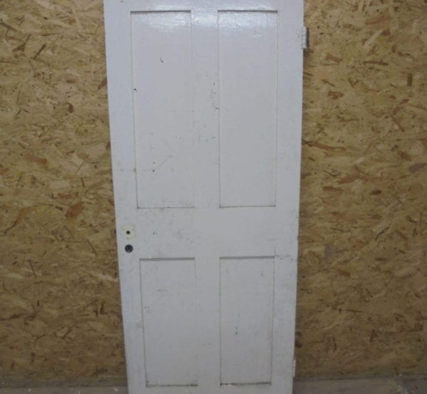 4 Panelled White Painted Door
