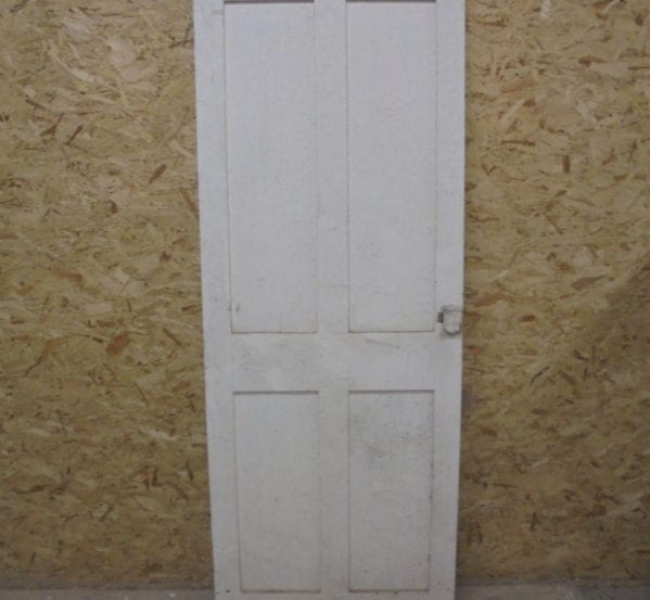 White No-Inlay 4 Panel Door