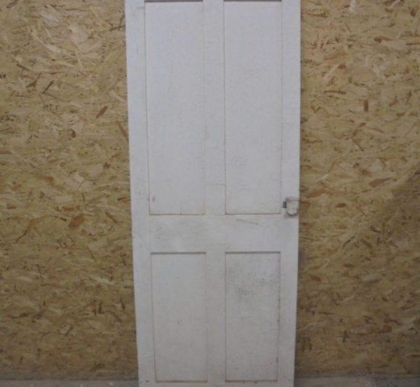 White No-Inlay 4 Panel Door