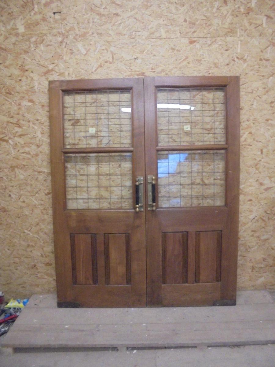 Large wide half glazed solid oak door authentic reclamation for 12 wide door