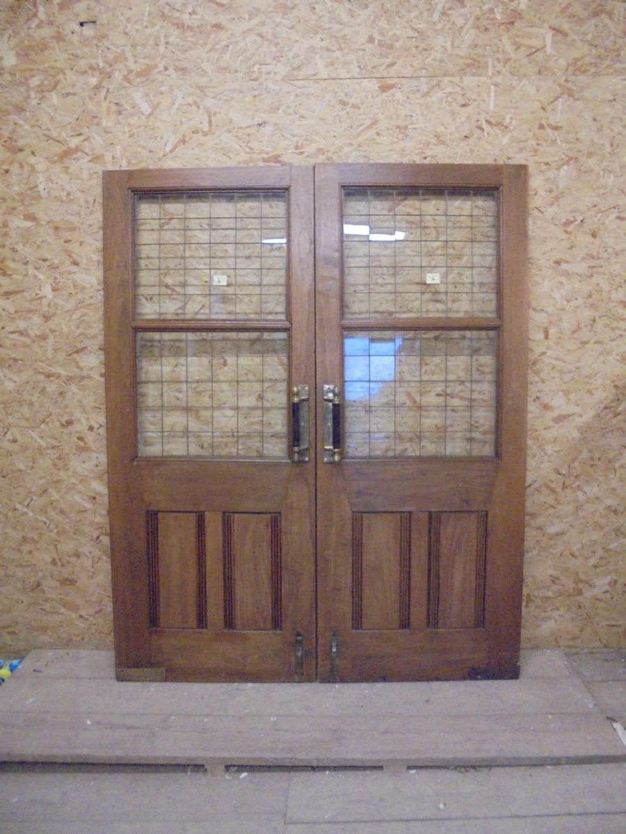 Large Wide Half Glazed Solid Oak Door