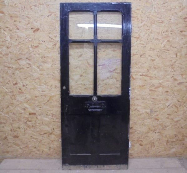 Half Glazed Painted Black & White Front Door