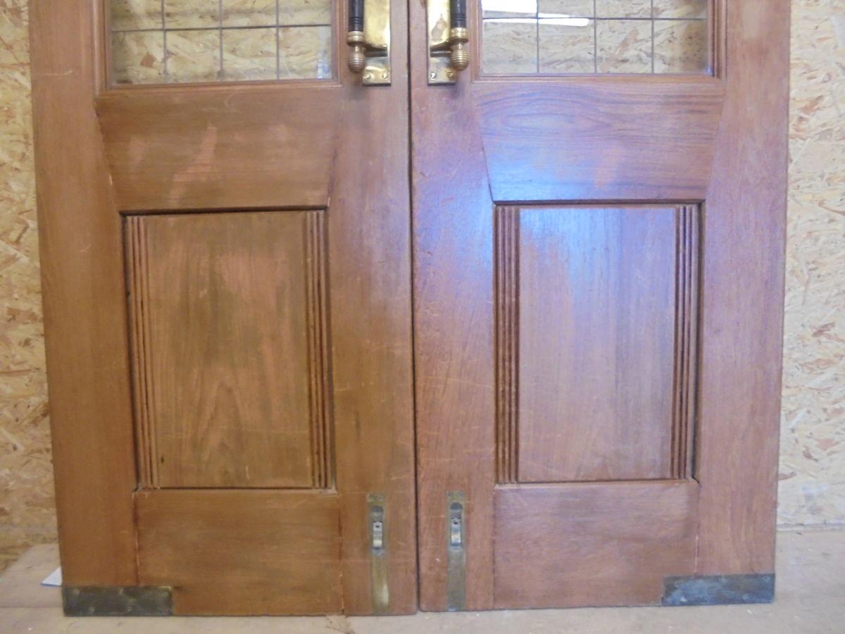 Oak Solid Half Glazed Double Doors
