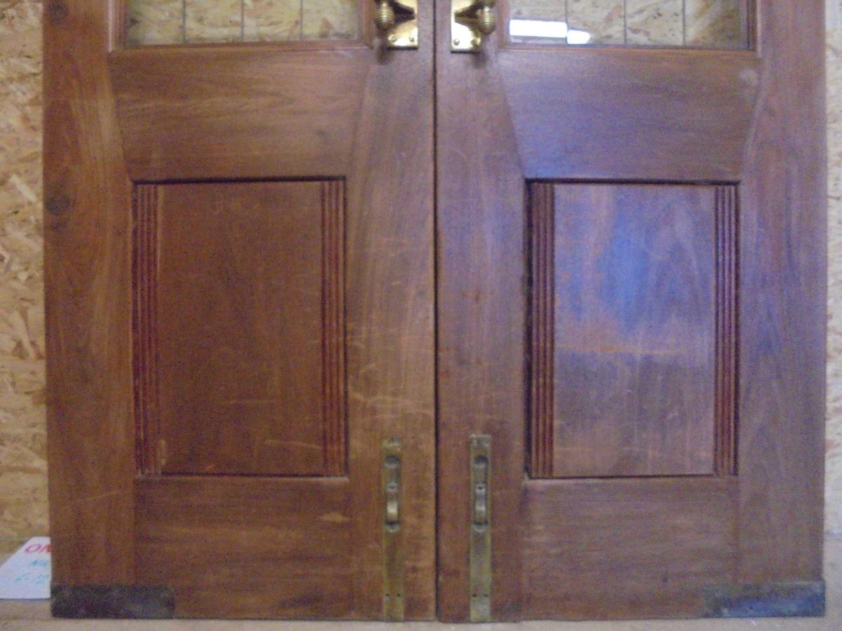 Half Glazed Solid Oak Pub Double Doors
