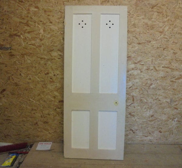 Plain Holey 4 Panelled Door