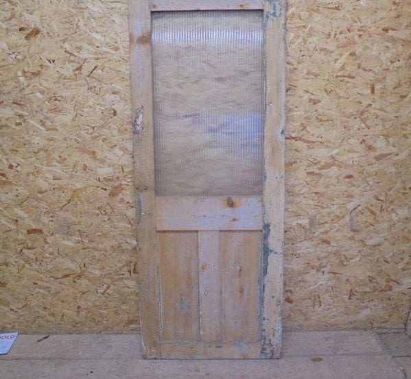Stripped Half Glazed 3 Panelled Door