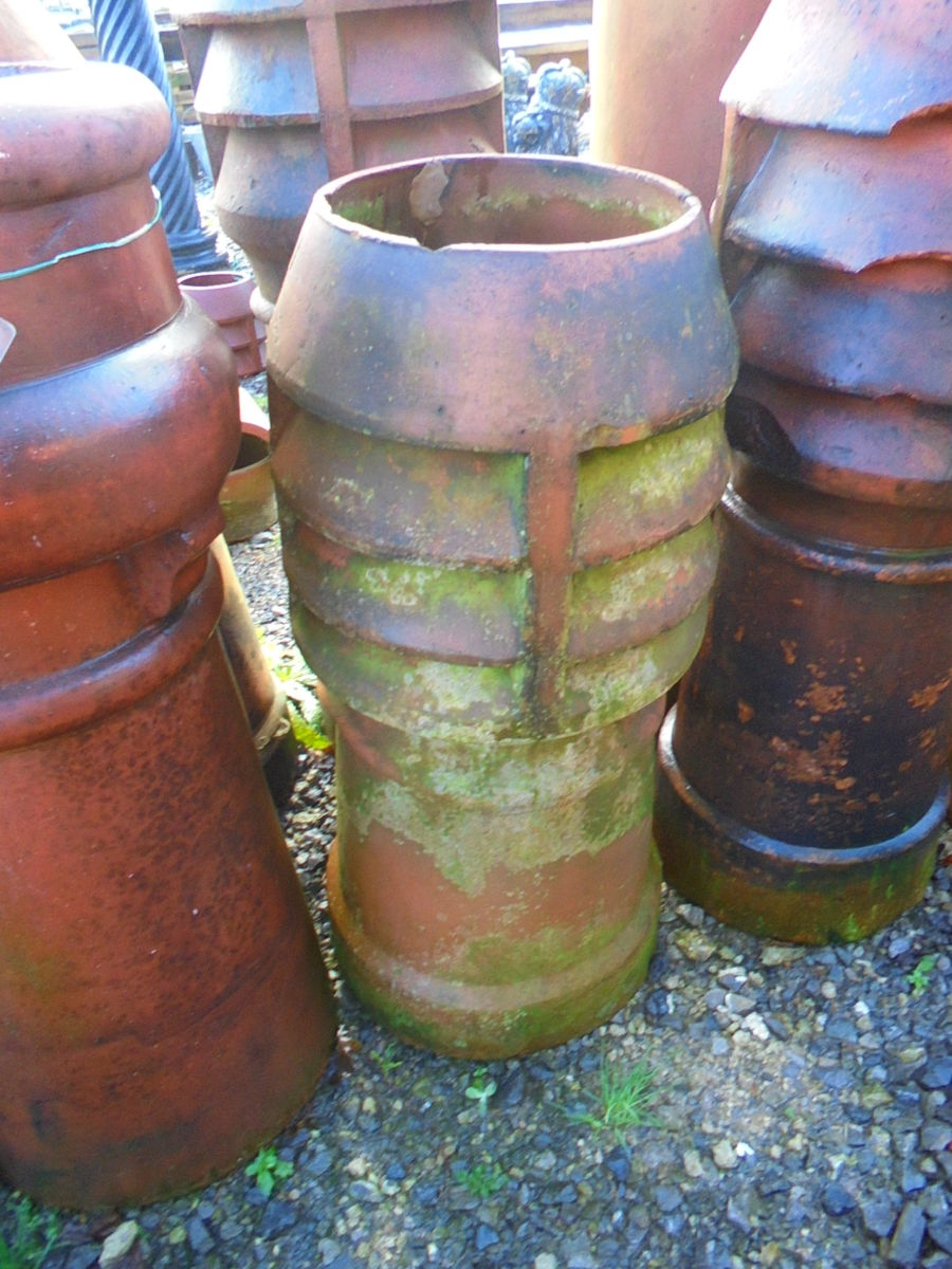 Small Red Louvred Chimney Pot