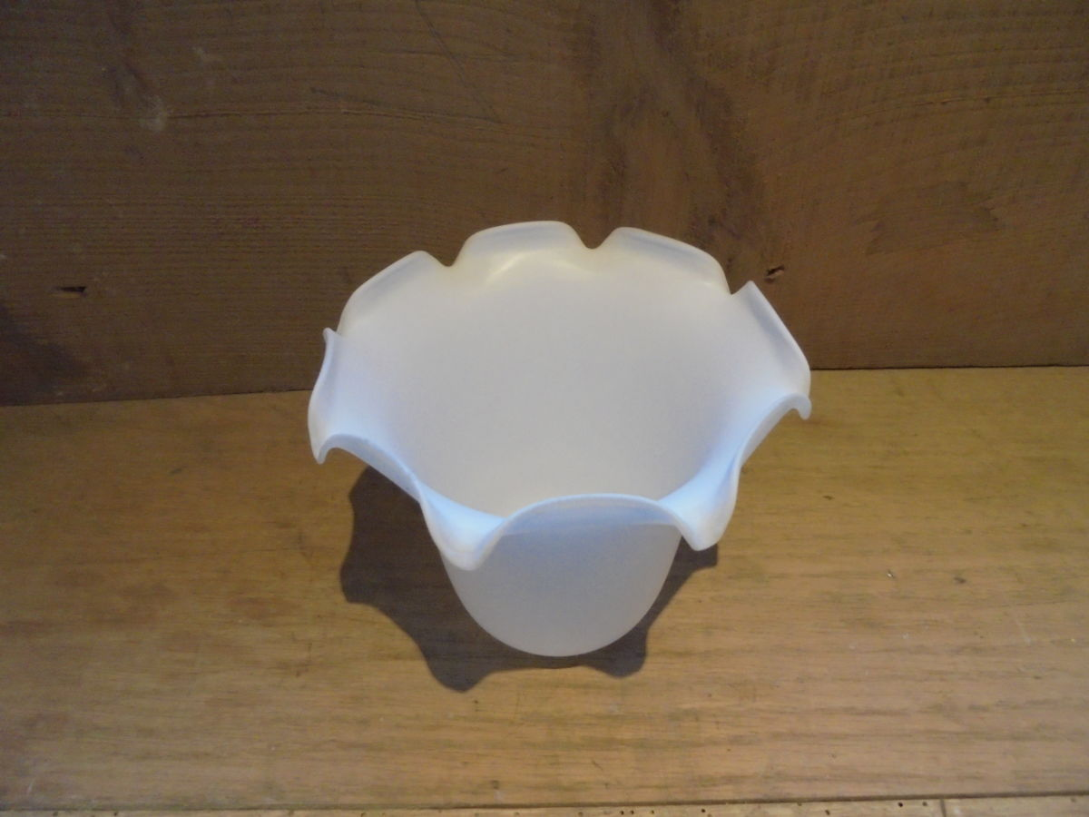 Small White Glass Lamp Shade Authentic Reclamation