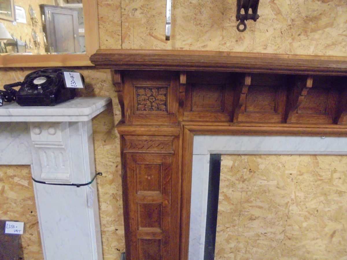 Reclaimed Art Deco Fire Surround