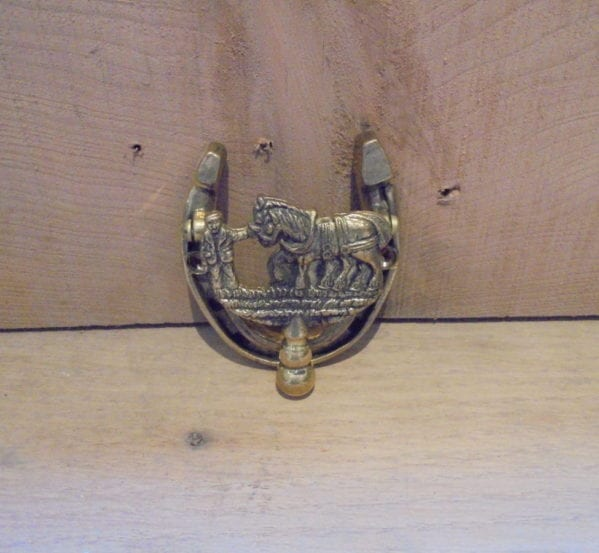 Horse Drawn Plough Door Knocker