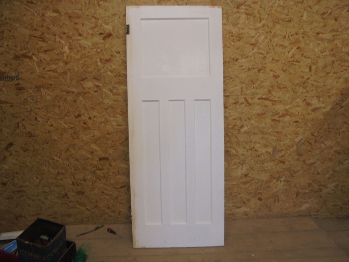 white painted 1 over 3 door authentic reclamation