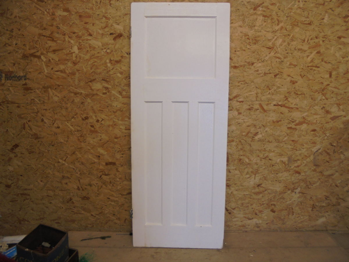 painted 1 over 3 door white authentic reclamation