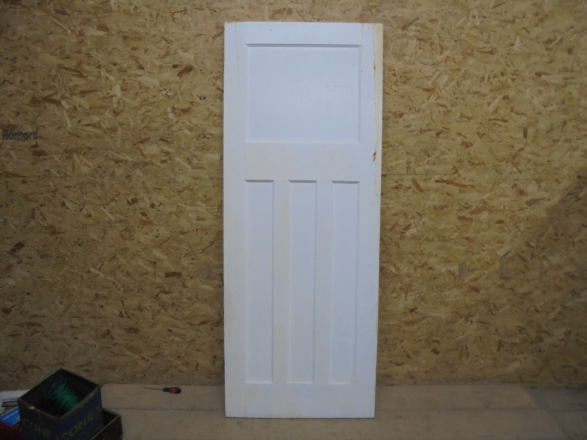 1 over 3 white painted door authentic reclamation