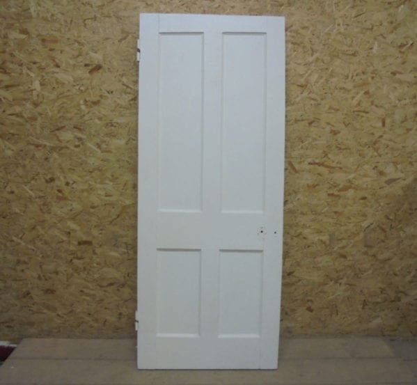 Slightly Planed White 4 Panelled Door