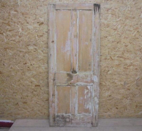 Tatty Stripped 4 Panelled Door