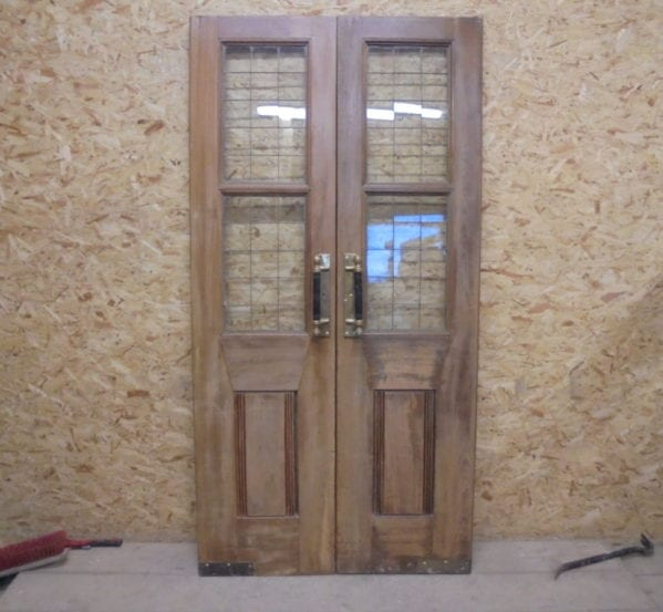 Dark Oak Pub Double Doors