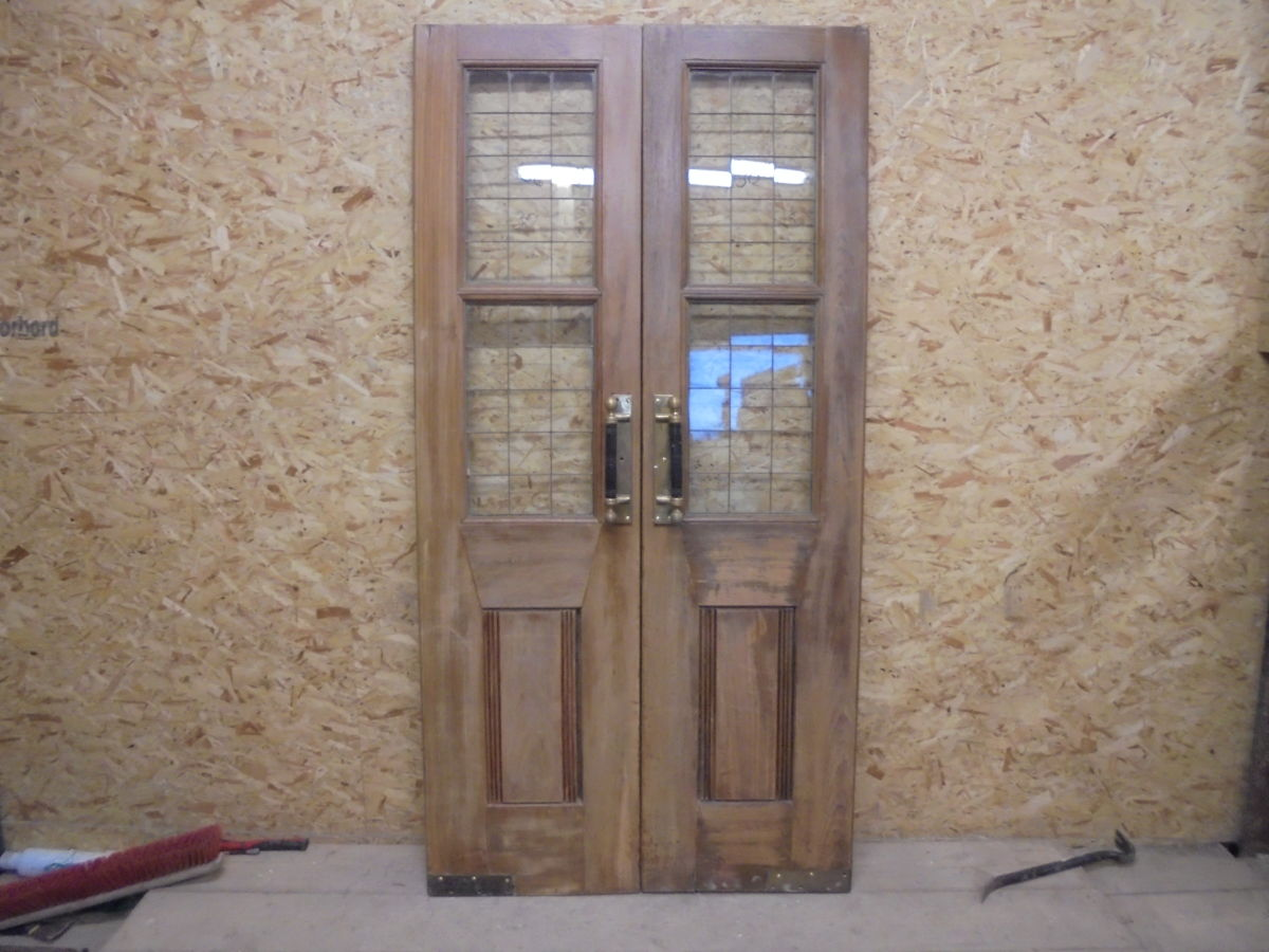 Dark oak pub double doors authentic reclamation for Door 4 harrods
